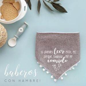 Babero original para bebé recién nacido con frase graciosa