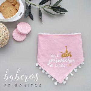 Babero original para bebé recién nacido con frase princesa