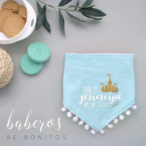 Babero original para bebé recién nacido con frase príncipe