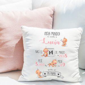Cojín-natalicio personalizado para bebé recién nacido, modelo bebés