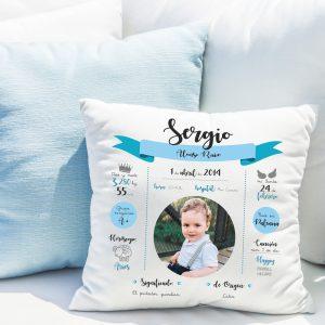 Cojín-natalicio personalizado para bebé recién nacido, modelo cinta